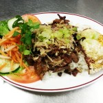 Rice with Grilled Pork, Shredded Pork, and Fried Egg