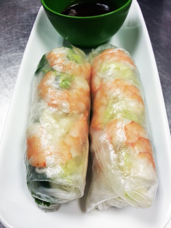 Spring Rolls with Shrimp and Vietnamese Sausage